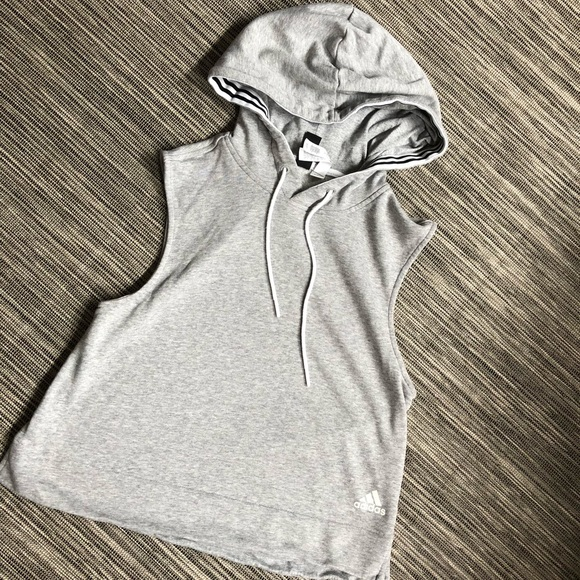 Adidas women s sleeveless pullover hoodie 47f9df897